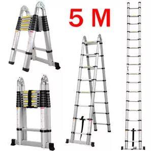 Escada 5m e Escadote 2,5m Telescópico – EVOLT