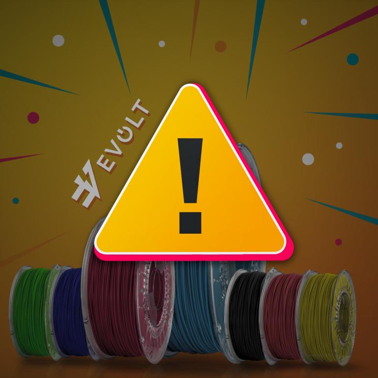 Aviso Importante sobre filamento 3D PLA