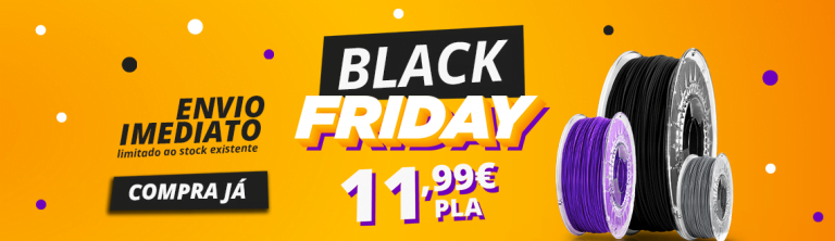 Promocao Black Friday filamentos 3d