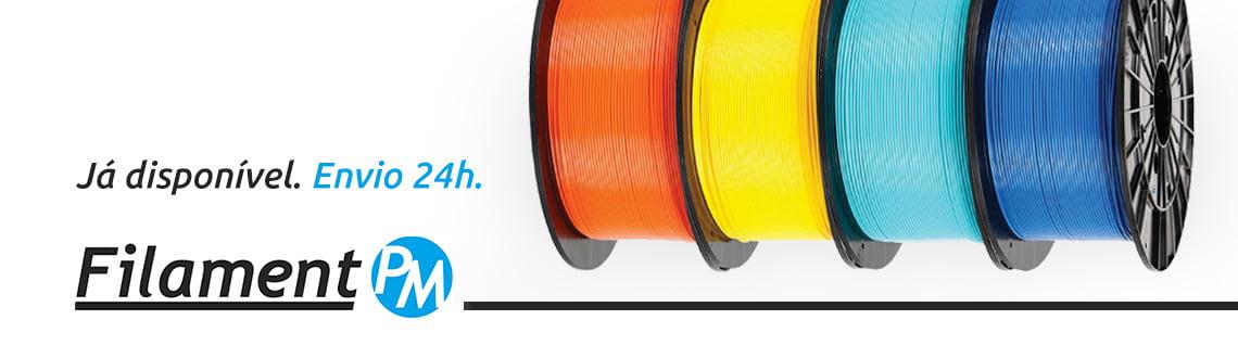 Filament PM banner - Filamento 3D De alta qualidade ja disponivel em portugal
