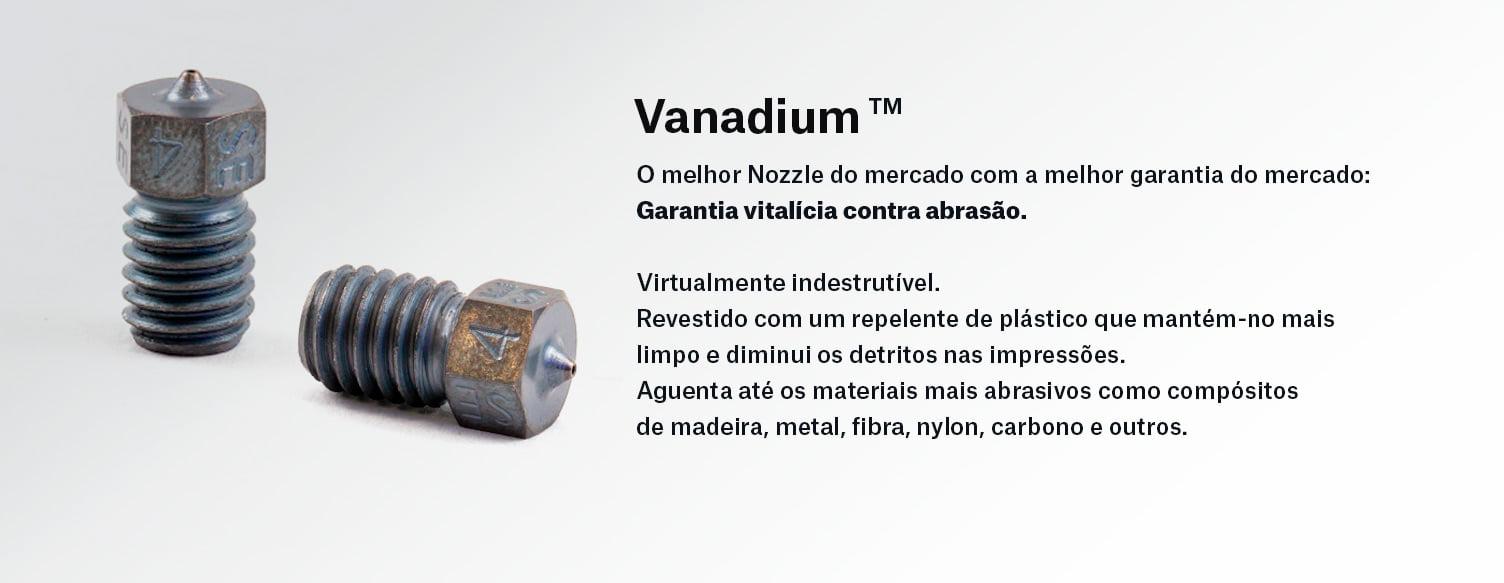 Vanadium Nozzle, um dos melhores Nozzles para Impressão 3D disponível em Portugal na Prusa I3 Mk3s Upgraded.