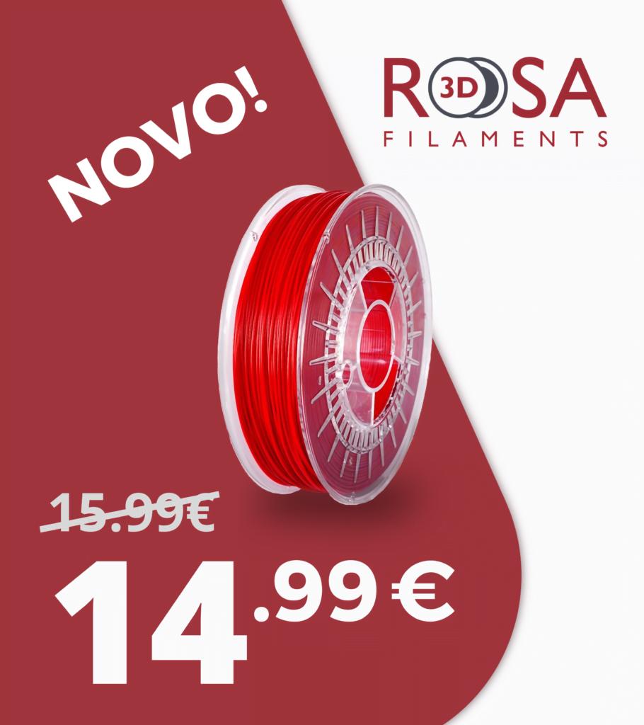 Promocao de lançamento - Filamento 3d Rosa
