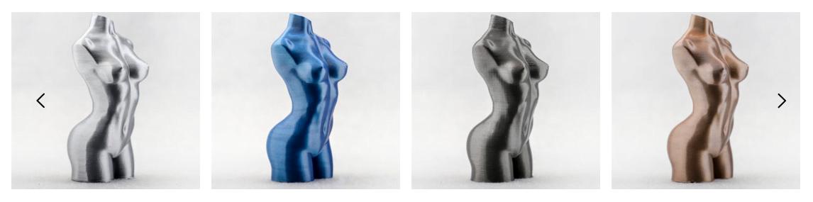 Exemplos de impressões 3D realizadas com PLA Kexcelled