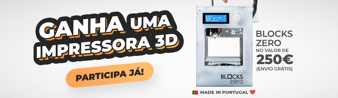 Giveaway de Impressora 3D Blocks Zero